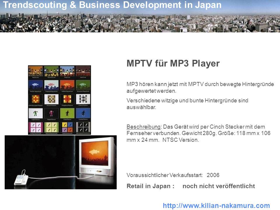 MPTV für MP3 Player Retail in Japan : noch nicht veröffentlicht