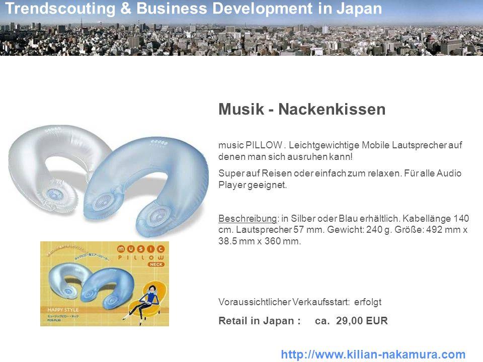 Musik - Nackenkissen Retail in Japan : ca. 29,00 EUR
