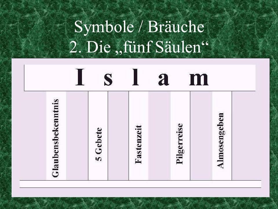"""Symbole / Bräuche 2. Die """"fünf Säulen"""
