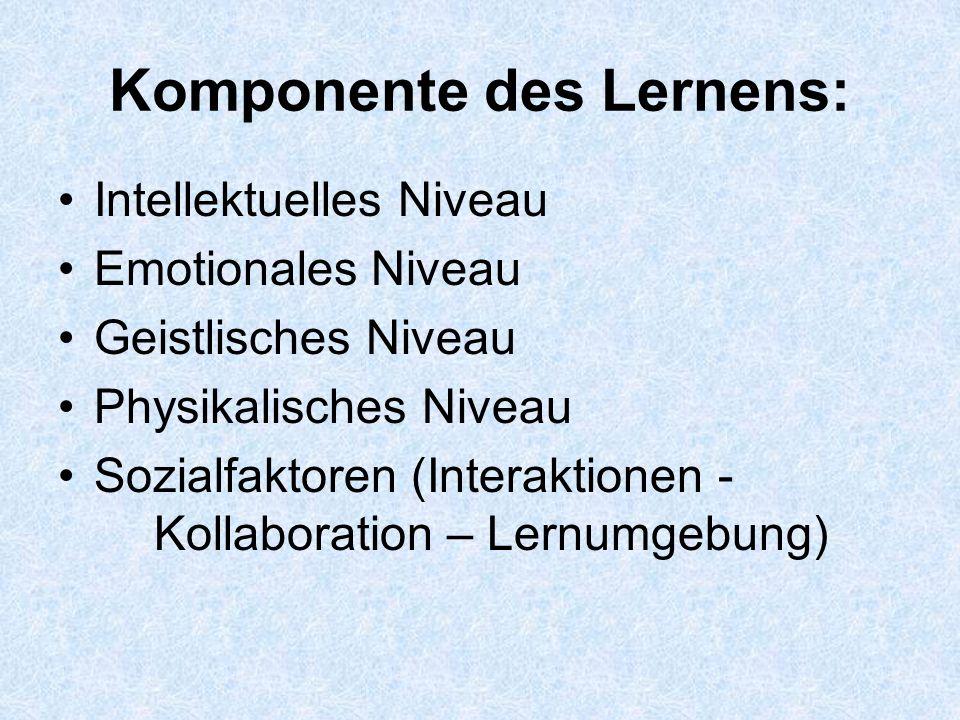 Komponente des Lernens: