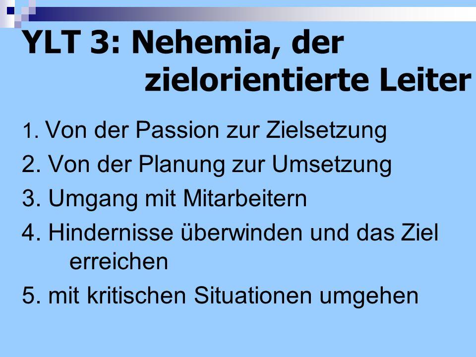 YLT 3: Nehemia, der zielorientierte Leiter