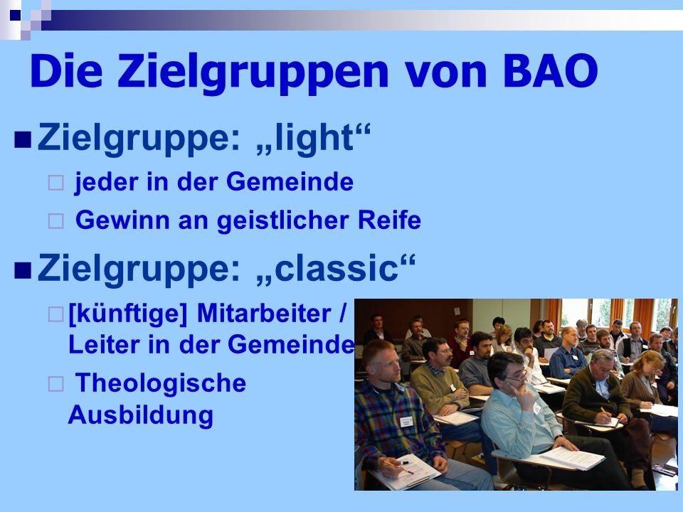 Die Zielgruppen von BAO