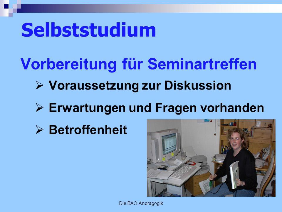 Selbststudium Vorbereitung für Seminartreffen
