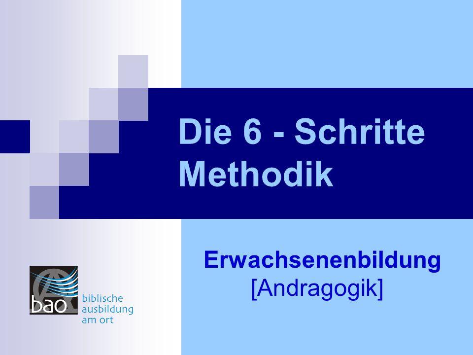 Die 6 - Schritte Methodik