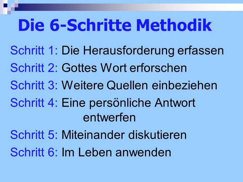 Die 6-Schritte Methodik
