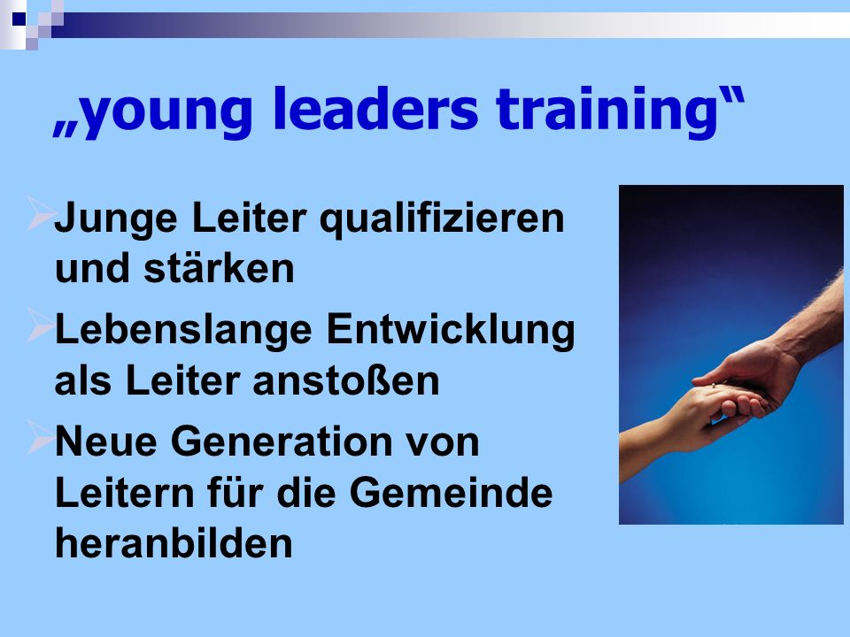 """young leaders training"