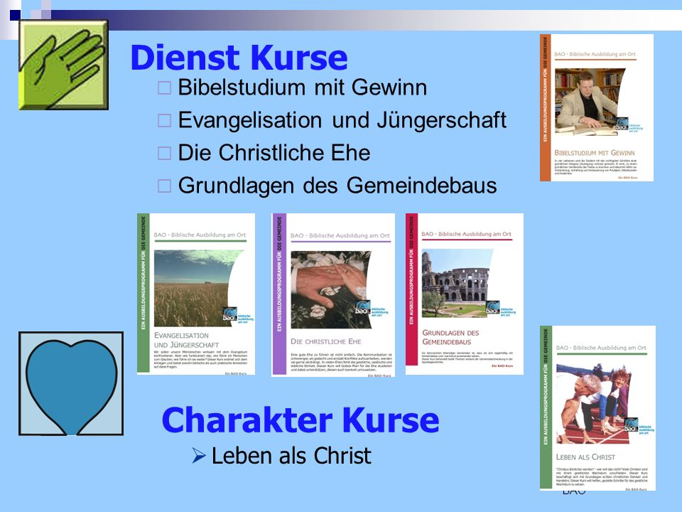 Dienst Kurse Charakter Kurse Bibelstudium mit Gewinn