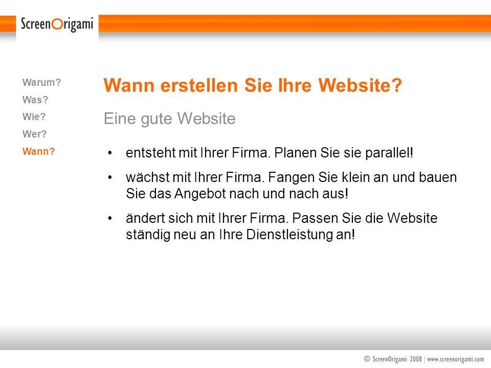 Wann erstellen Sie Ihre Website