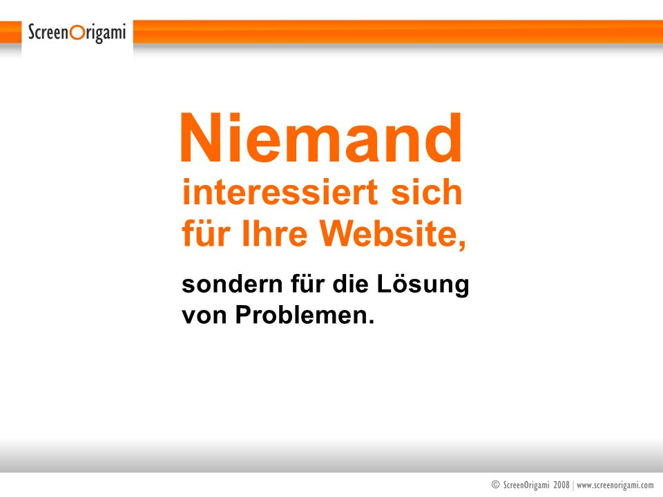 Niemand interessiert sich für Ihre Website,