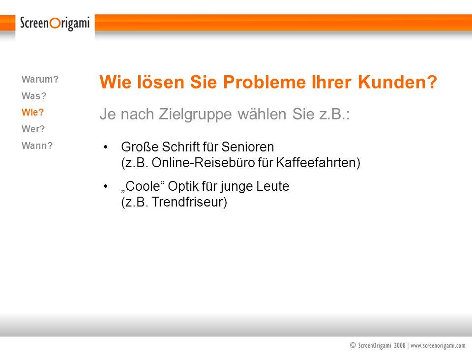 Wie lösen Sie Probleme Ihrer Kunden