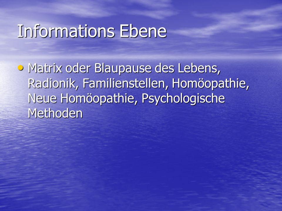 Informations Ebene Matrix oder Blaupause des Lebens, Radionik, Familienstellen, Homöopathie, Neue Homöopathie, Psychologische Methoden.
