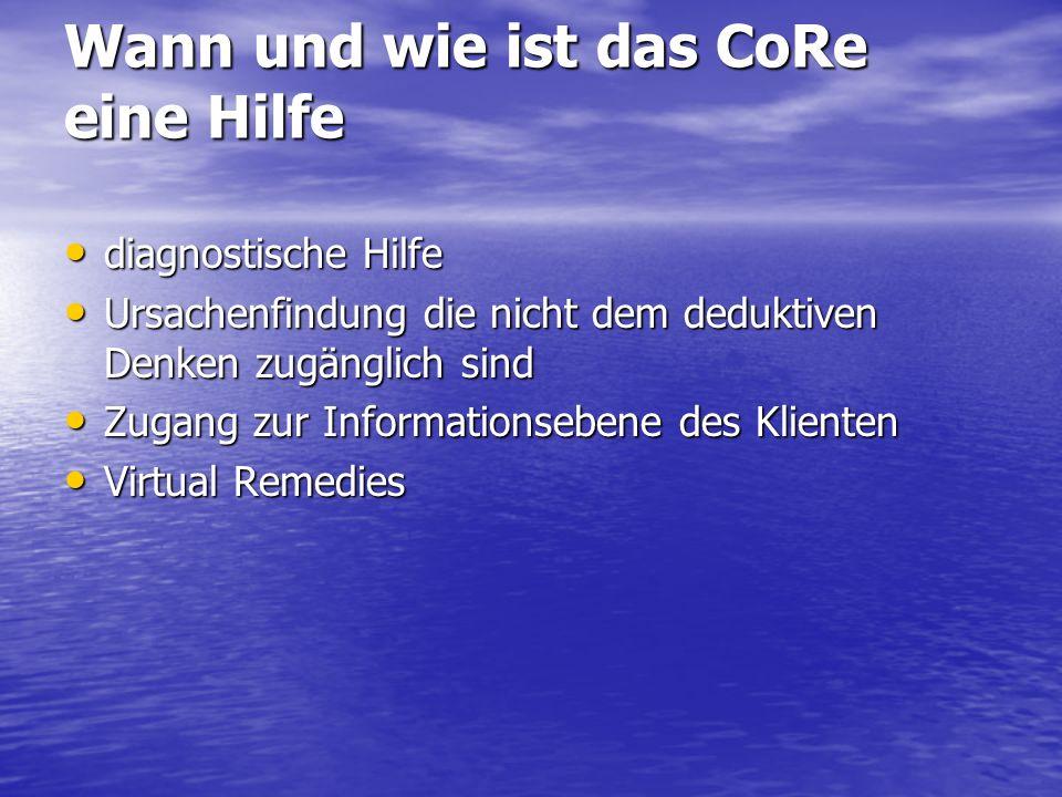 Wann und wie ist das CoRe eine Hilfe