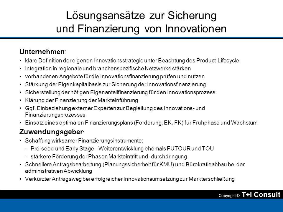 Lösungsansätze zur Sicherung und Finanzierung von Innovationen