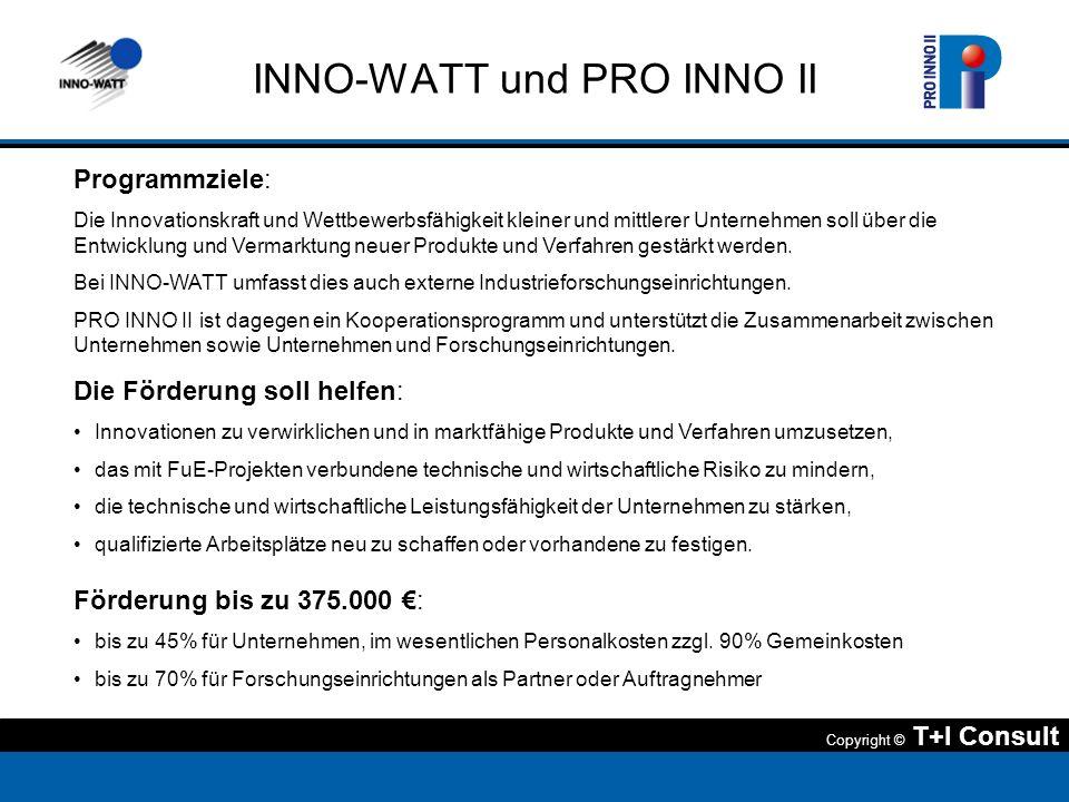 INNO-WATT und PRO INNO II
