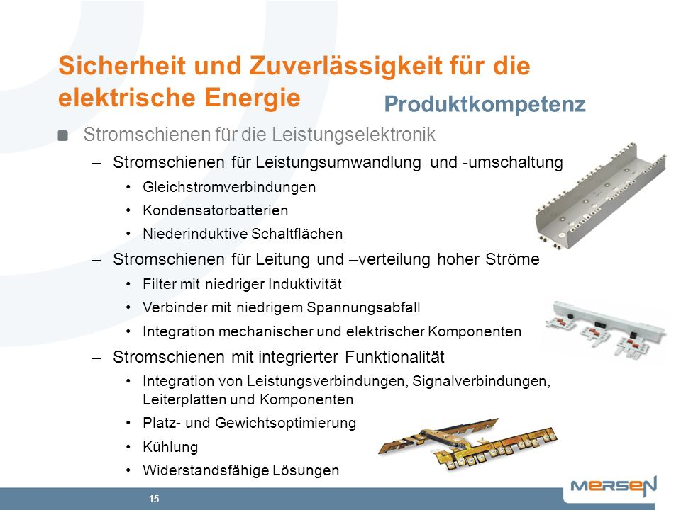 Sicherheit und Zuverlässigkeit für die elektrische Energie
