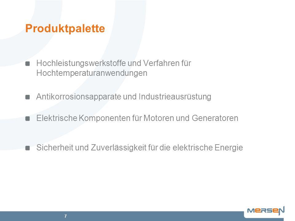 Produktpalette Hochleistungswerkstoffe und Verfahren für Hochtemperaturanwendungen. Antikorrosionsapparate und Industrieausrüstung.