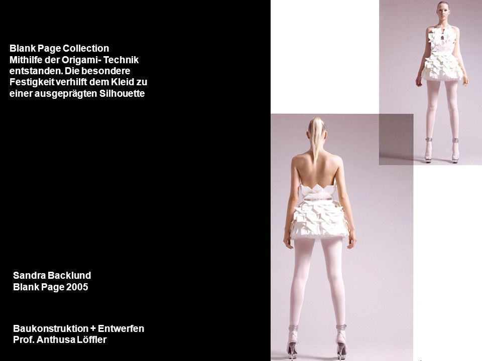 Blank Page CollectionMithilfe der Origami- Technik. entstanden. Die besondere. Festigkeit verhilft dem Kleid zu.