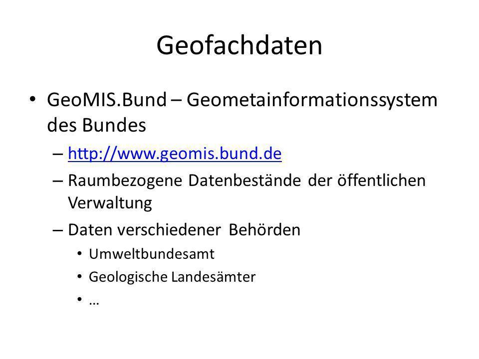 Geofachdaten GeoMIS.Bund – Geometainformationssystem des Bundes