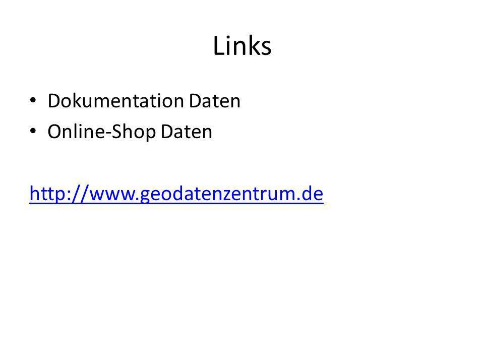 Links Dokumentation Daten Online-Shop Daten