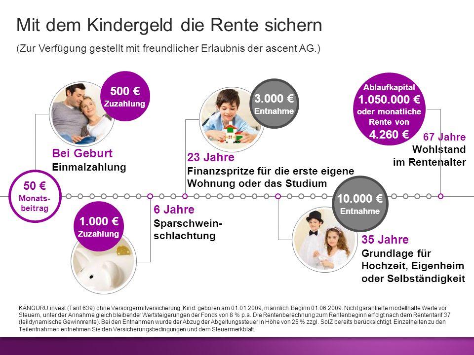 Mit dem Kindergeld die Rente sichern