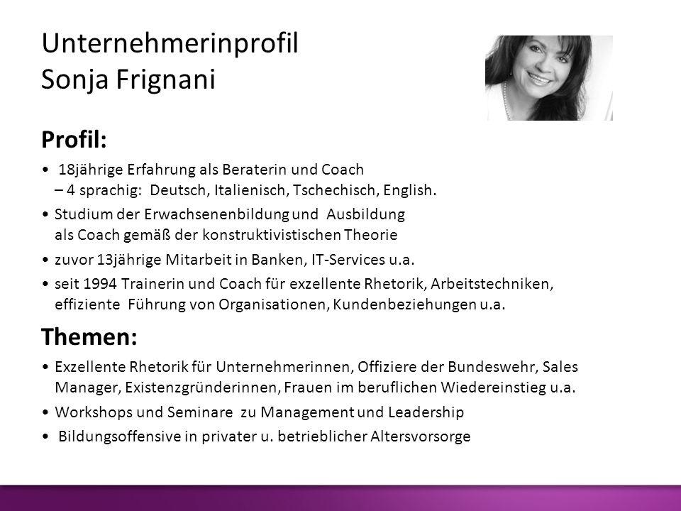 Unternehmerinprofil Sonja Frignani