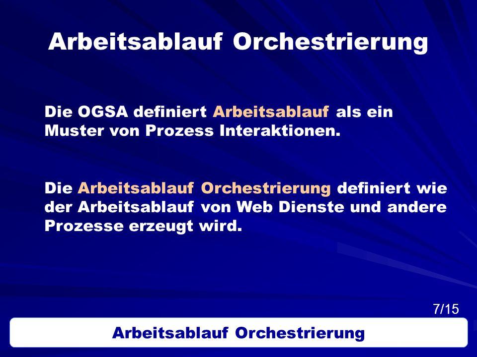 Arbeitsablauf Orchestrierung