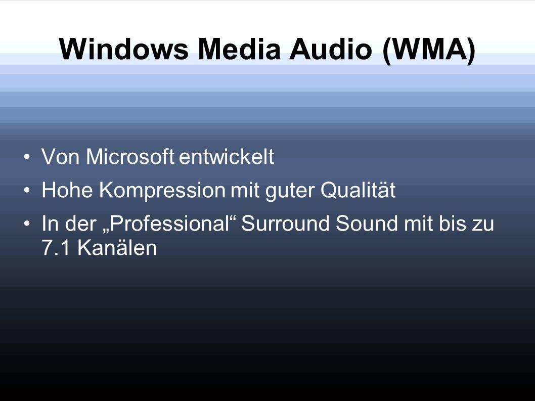 Windows Media Audio (WMA)