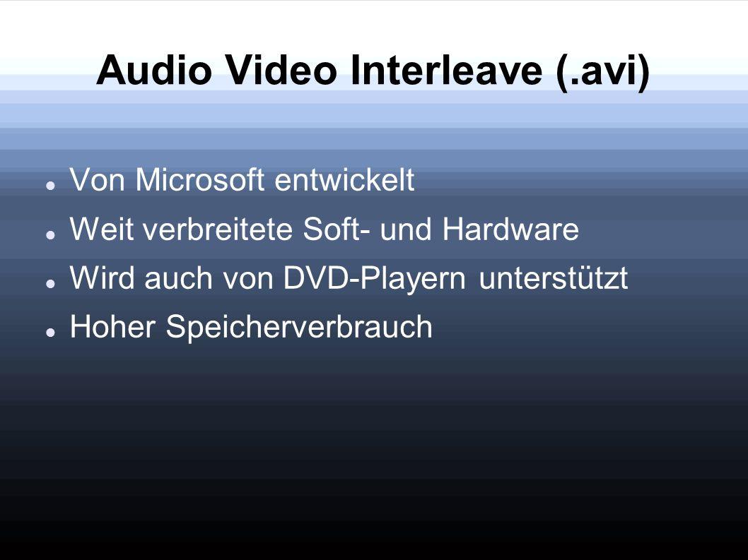 Audio Video Interleave (.avi)