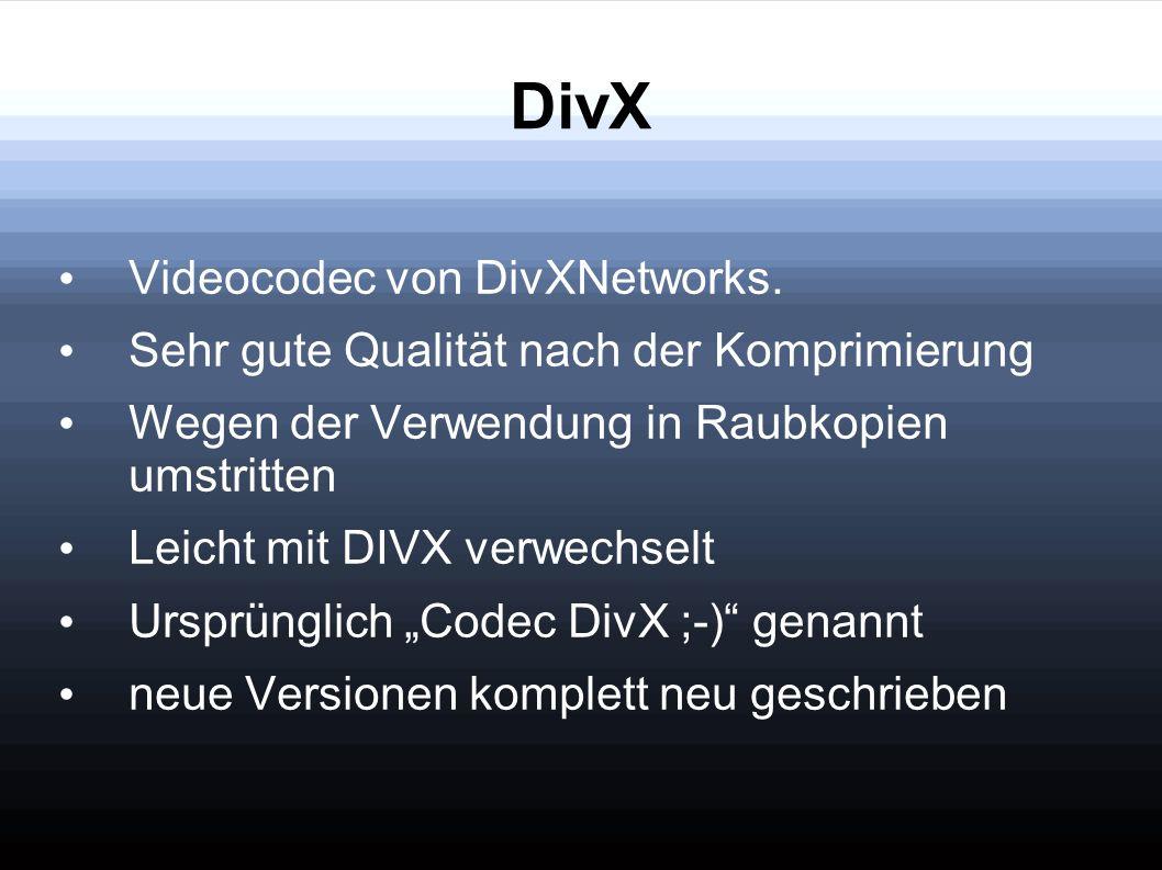 DivX Videocodec von DivXNetworks.