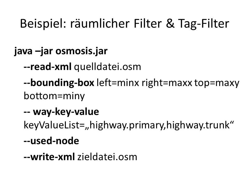 Beispiel: räumlicher Filter & Tag-Filter