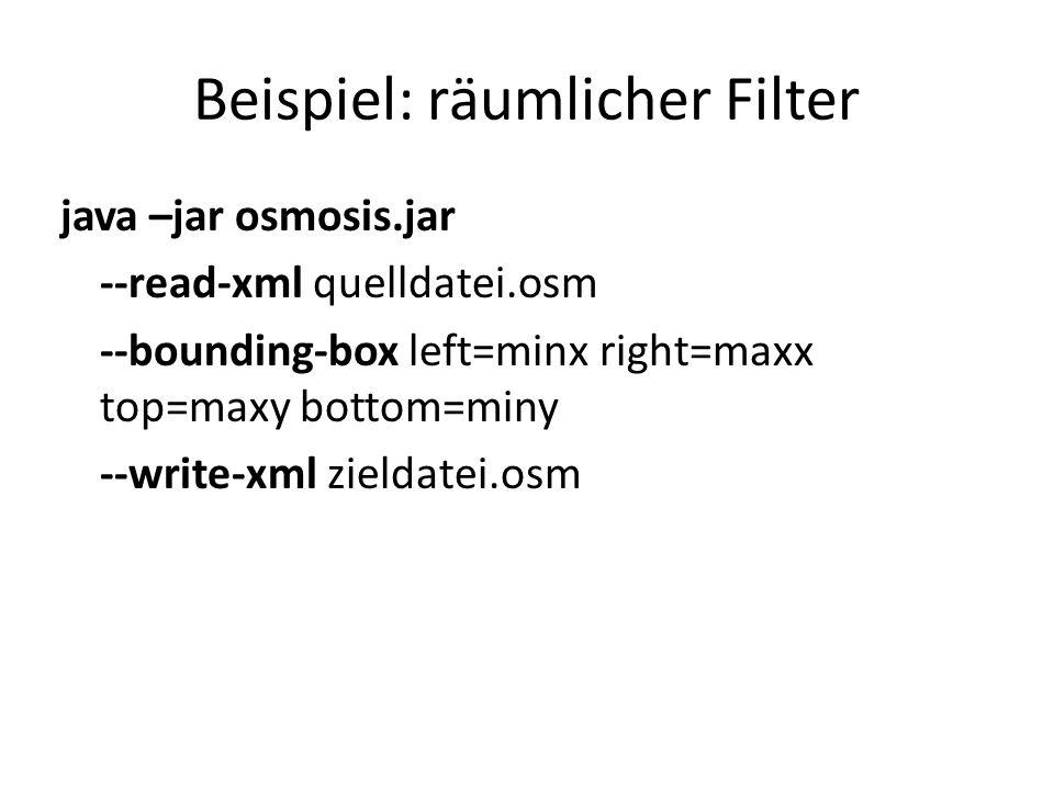 Beispiel: räumlicher Filter