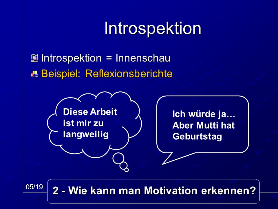 2 - Wie kann man Motivation erkennen