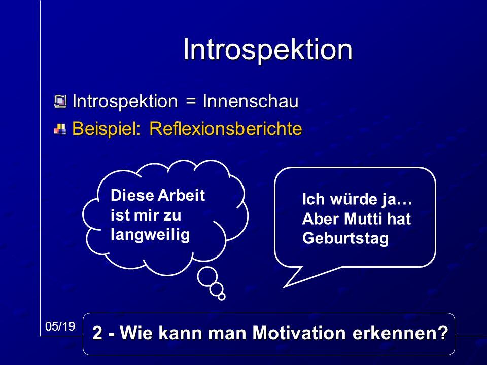 2 - Wie kann man Motivation erkennen