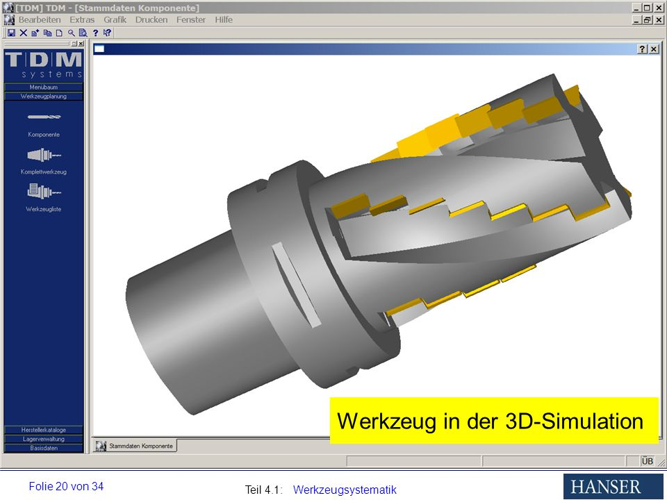 Werkzeug in der 3D-Simulation