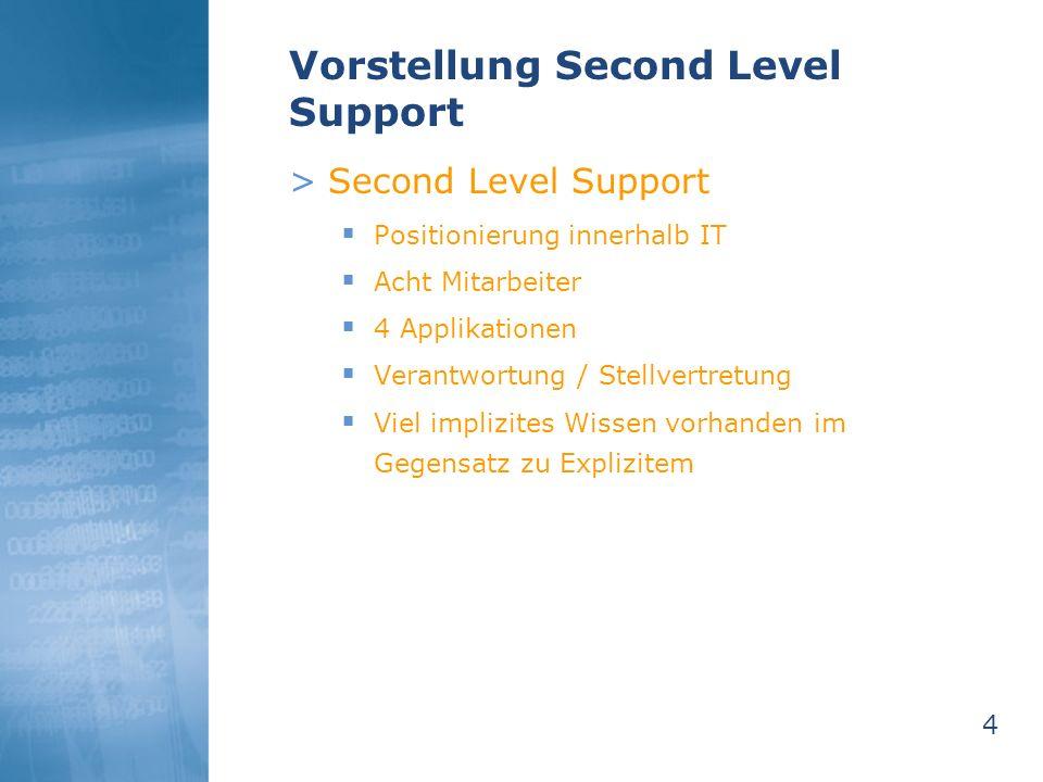 Vorstellung Second Level Support
