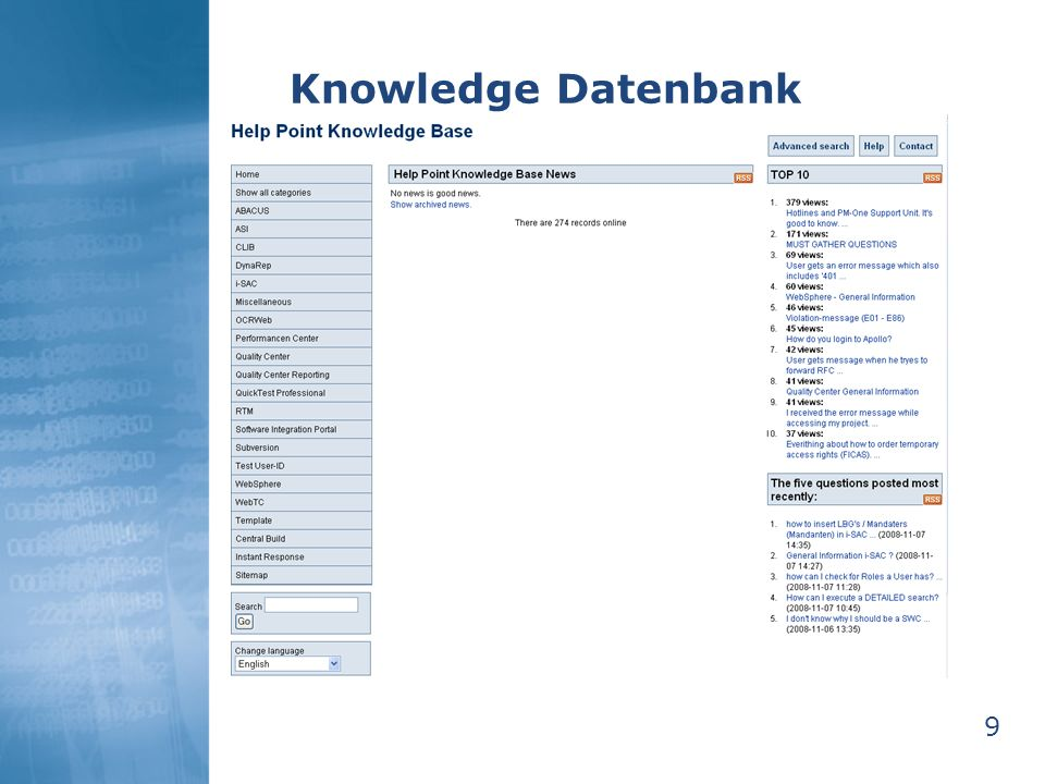 Knowledge Datenbank 9