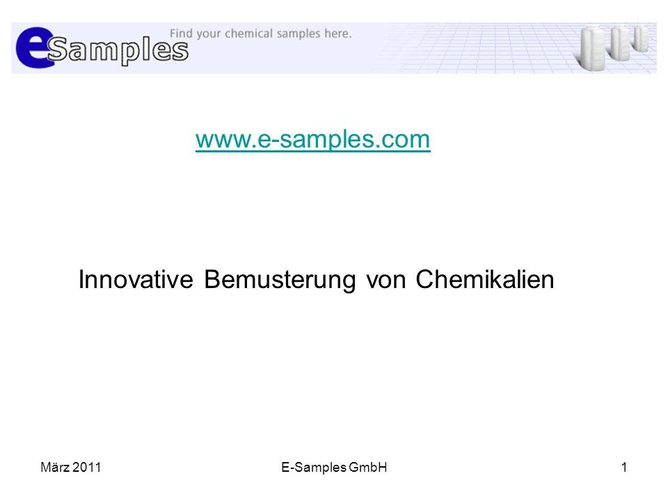 Innovative Bemusterung von Chemikalien