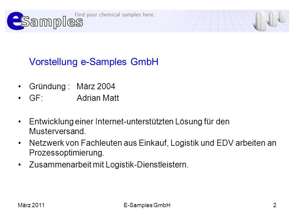 Vorstellung e-Samples GmbH