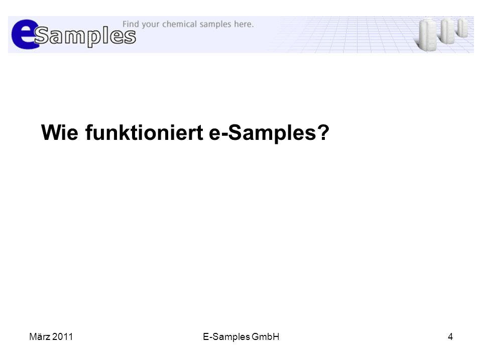 Wie funktioniert e-Samples