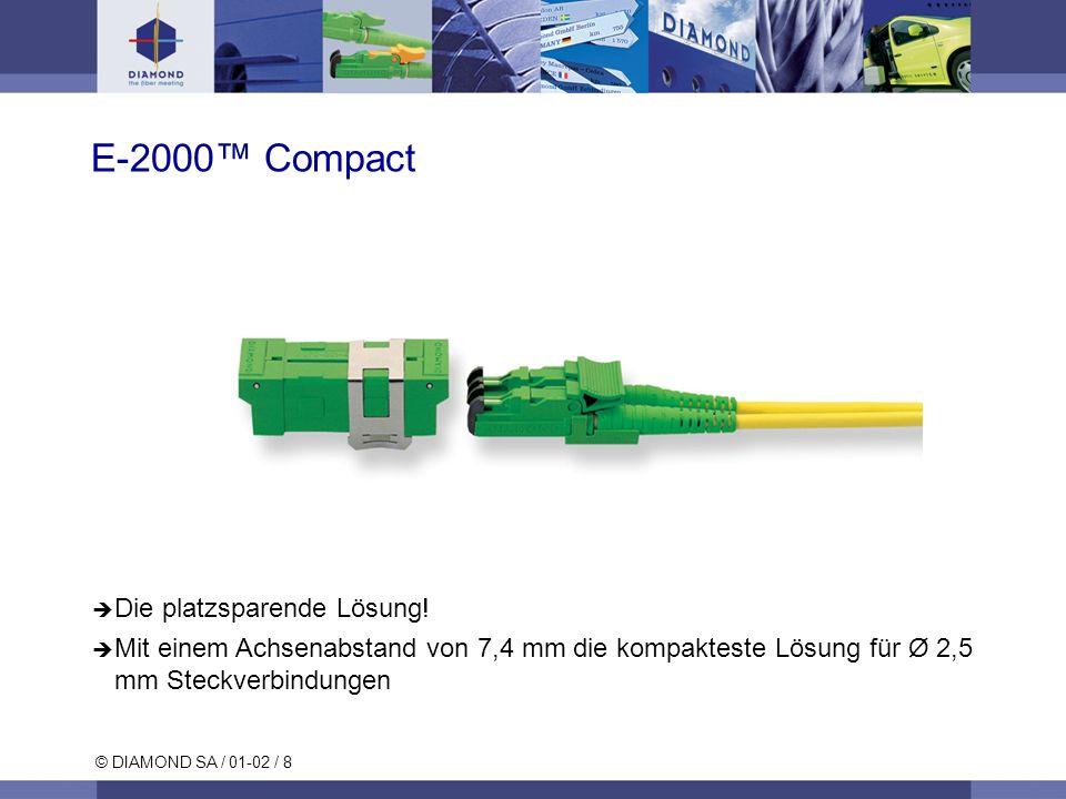 E-2000™ Compact Die platzsparende Lösung!