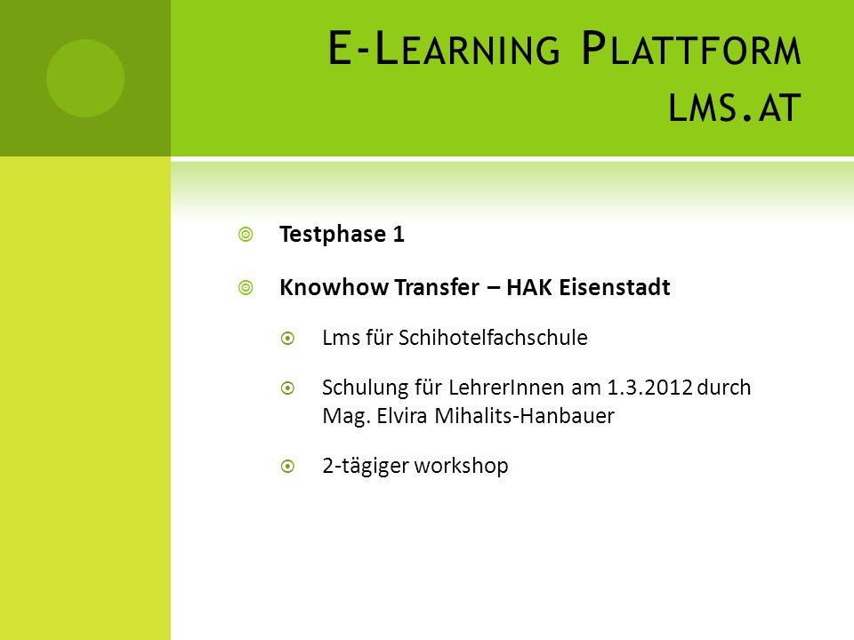 E-Learning Plattform lms.at