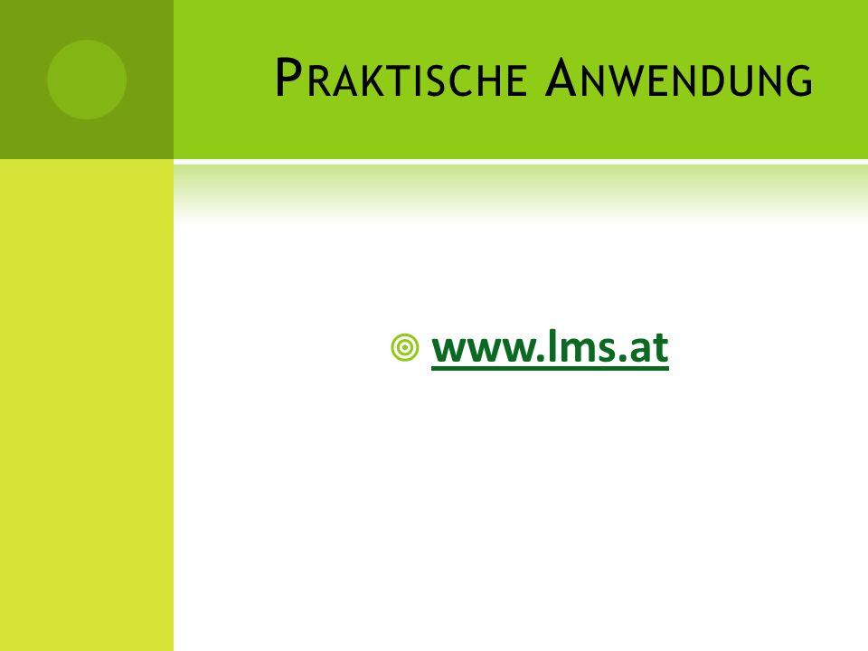 Praktische Anwendung www.lms.at