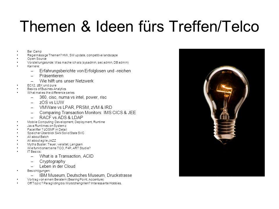 Themen & Ideen fürs Treffen/Telco