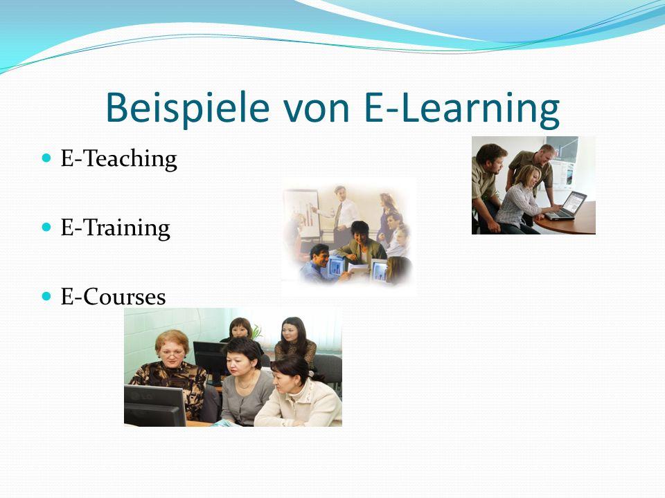 Beispiele von E-Learning