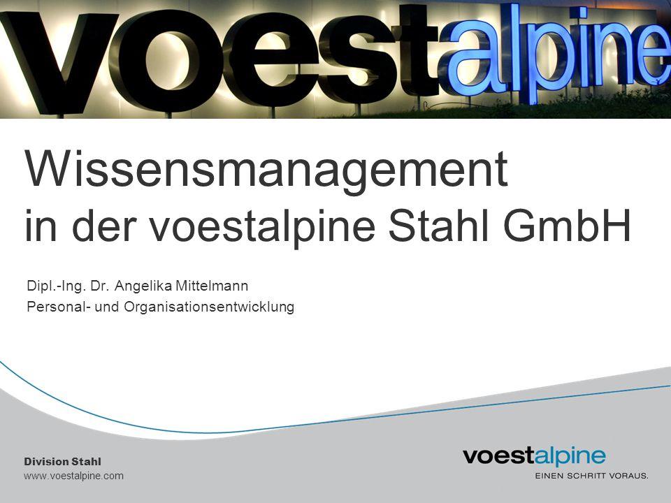 Wissensmanagement in der voestalpine Stahl GmbH