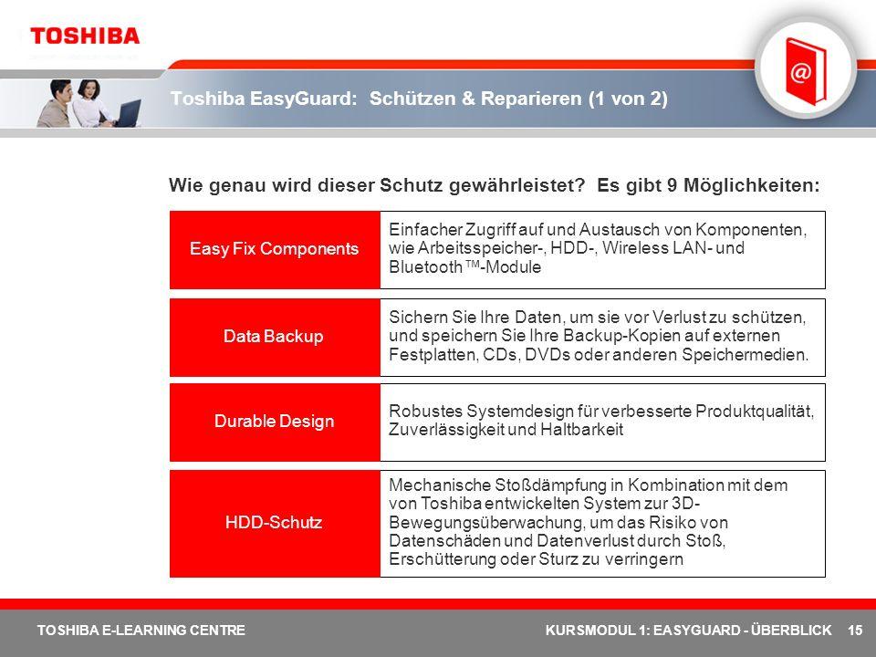 Toshiba EasyGuard: Schützen & Reparieren (1 von 2)