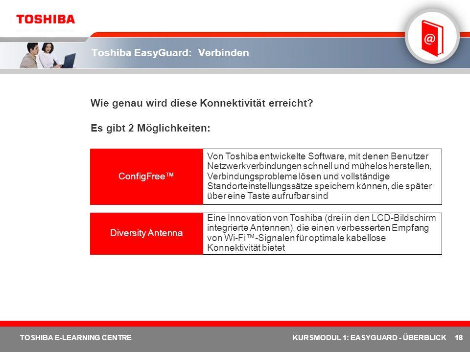 Toshiba EasyGuard: Verbinden