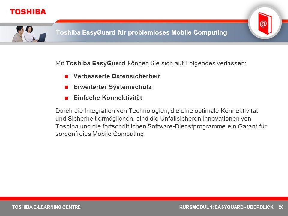 Toshiba EasyGuard für problemloses Mobile Computing