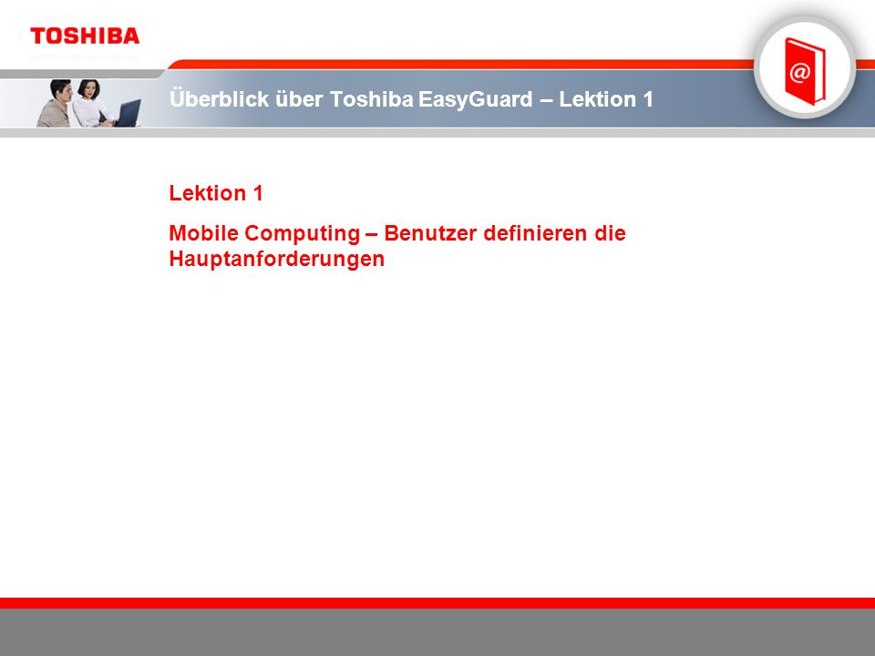 Überblick über Toshiba EasyGuard – Lektion 1