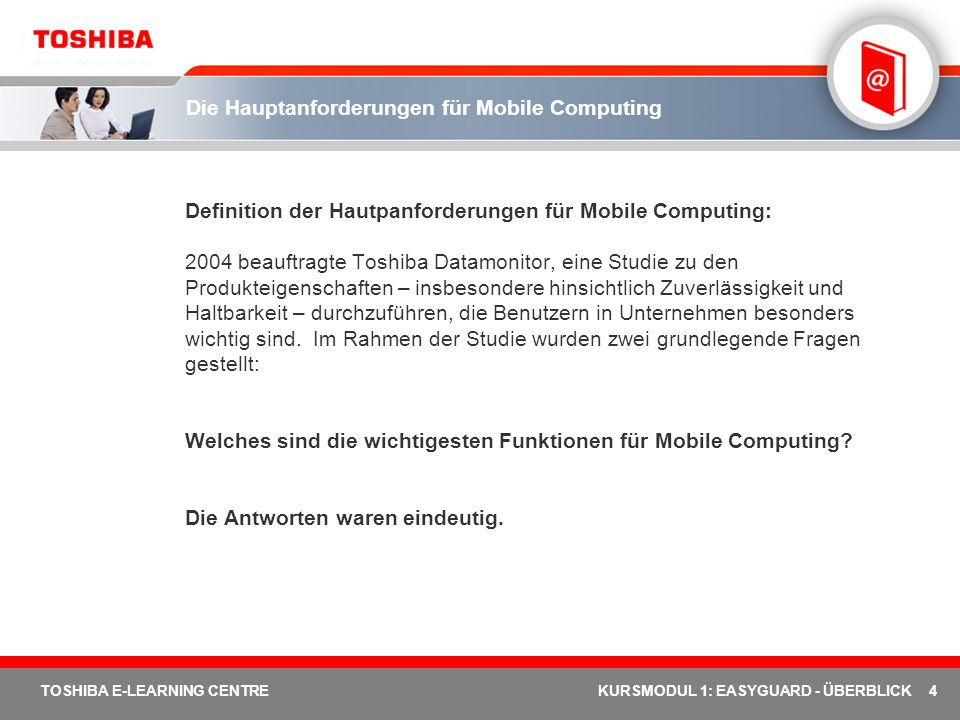 Die Hauptanforderungen für Mobile Computing